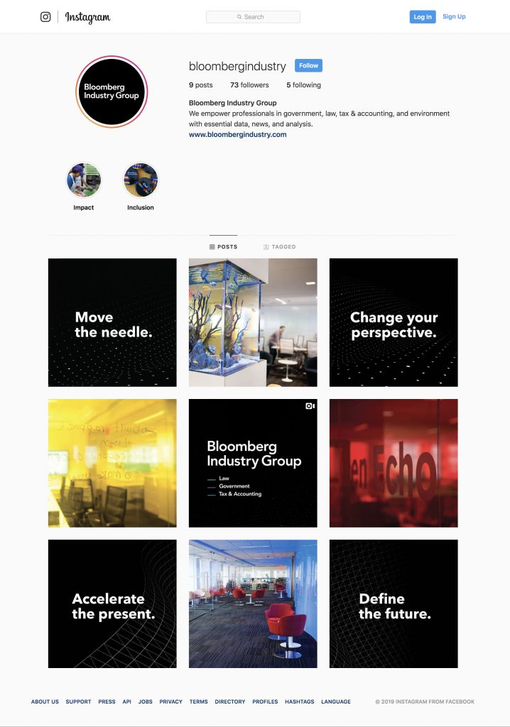 Bloomberg Industry Instagram