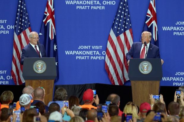 Trump speaks with as Australia Prime Minister Scott Morrison in Ohio on Sunday ahead of the U.N. General Assembly in New York starting Monday.