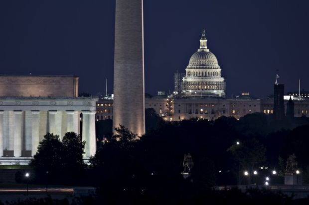 The Capitol at night - Andrew Harrer/Bloomberg