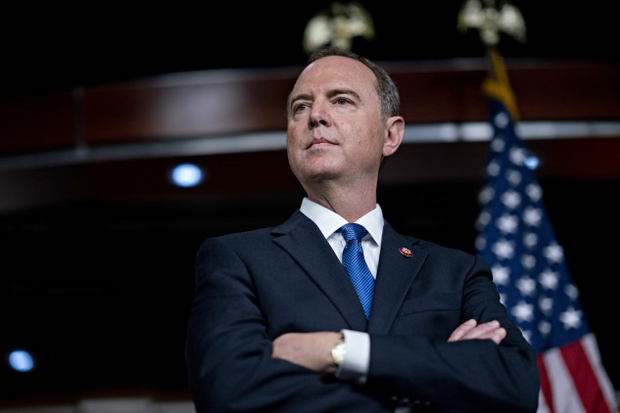 Rep. Schiff at a press conference on Wednesday.