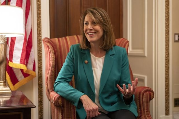 Rep. Cindy Axne - (Photo by Melissa Lyttle/Bloomberg via Getty Images)