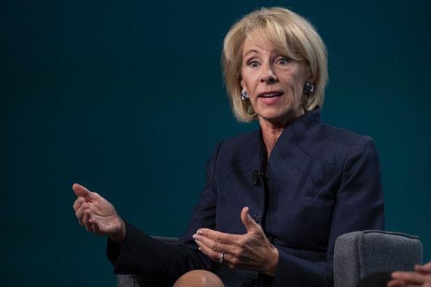Education Secretary Betsy DeVos - Alex Edelman/Bloomberg