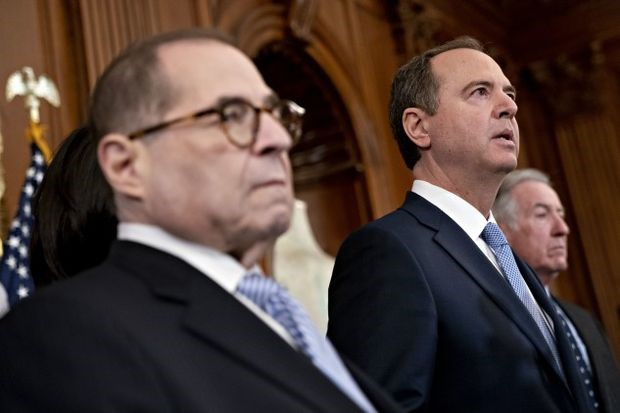 Nadler, Schiff announcing the next steps in the impeachment inquiry - Andrew Harrer/Bloomberg
