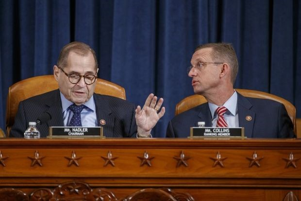 Nadler and Collins at Wednesday's Judiciary Committee meeting - Shawn Thew/EPA/Bloomberg