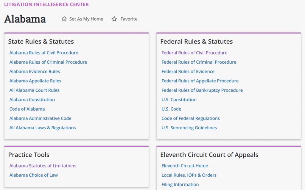Alabama Litigation Intelligence Center State Statute of Limitations
