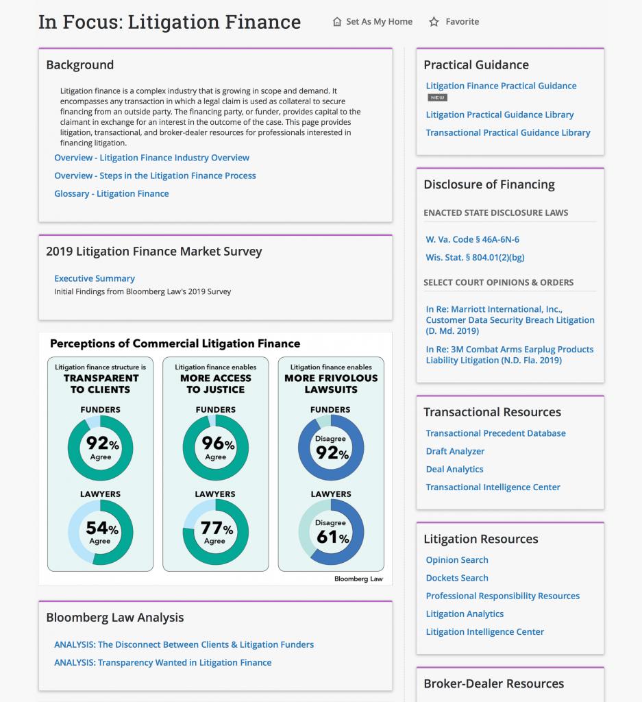 Litigation Finance Overview screenshot