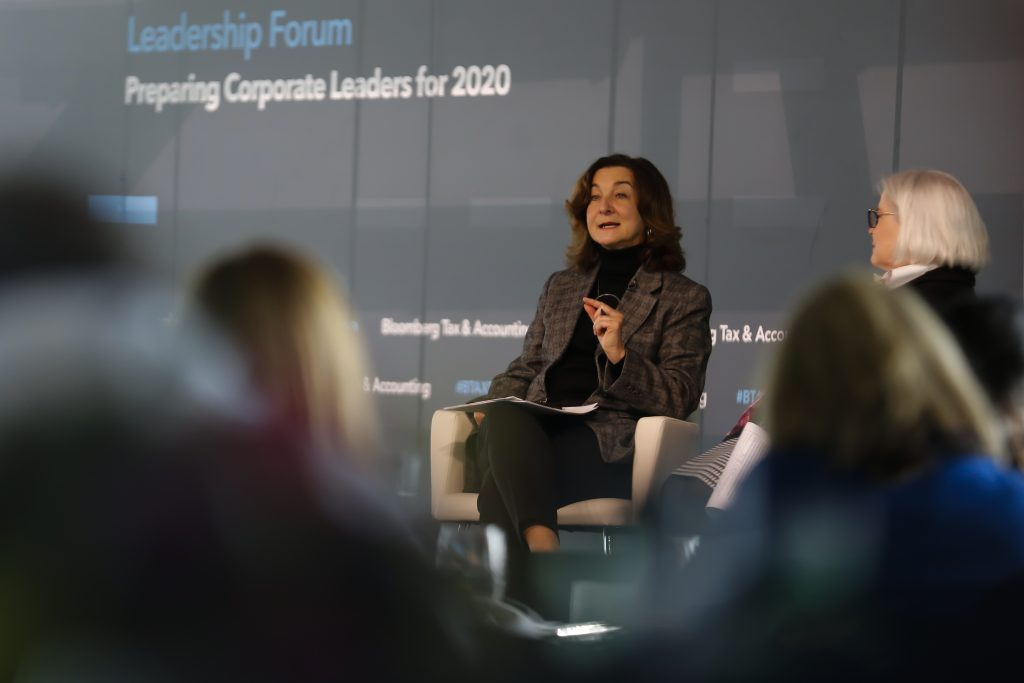 Grace Perez-Navarro at the Bloomberg Tax Leadership Forum, which took place on Nov. 19, 2019, at the Newseum in Washington, D.C.