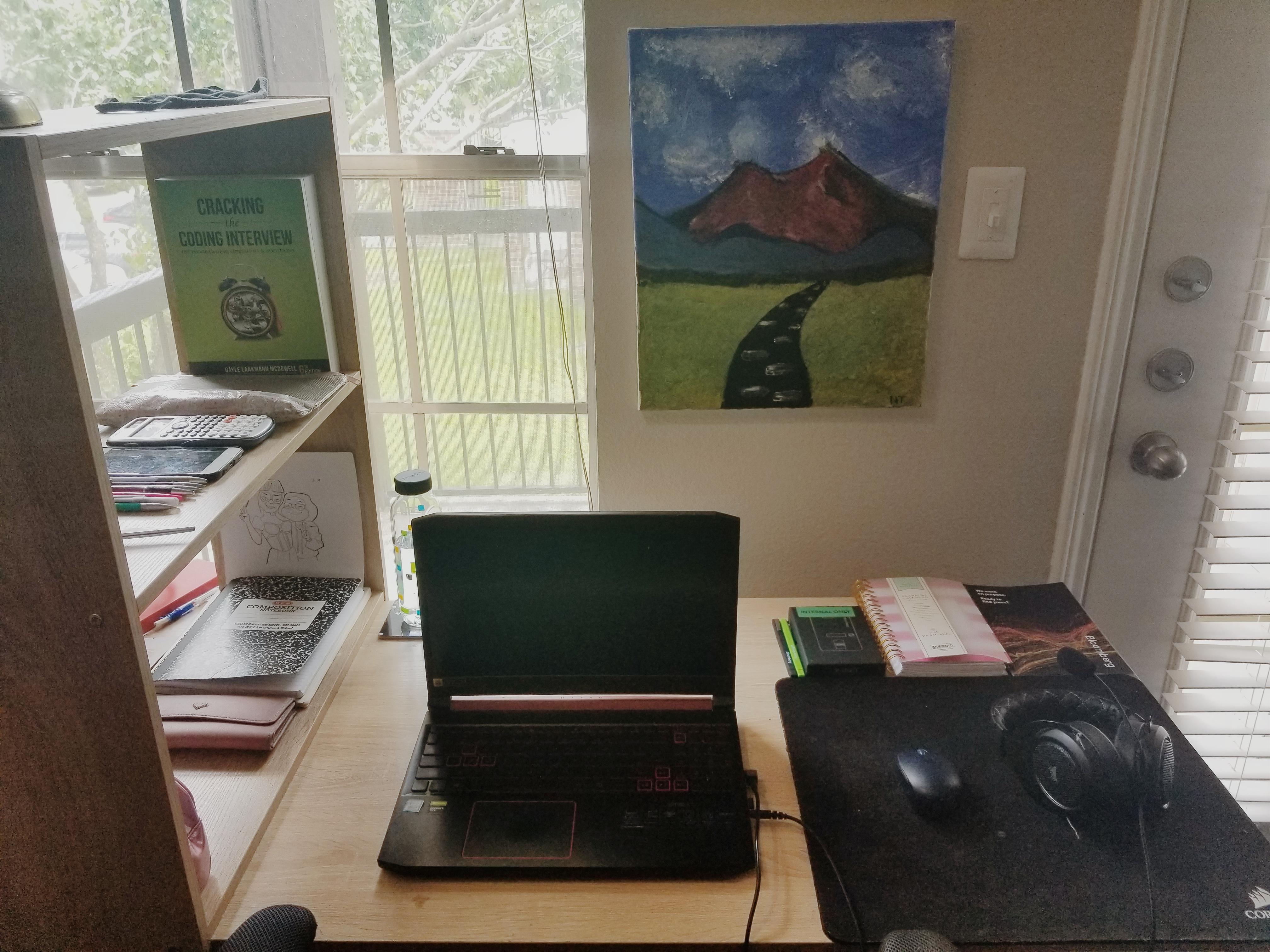 Josephine's WFH setup