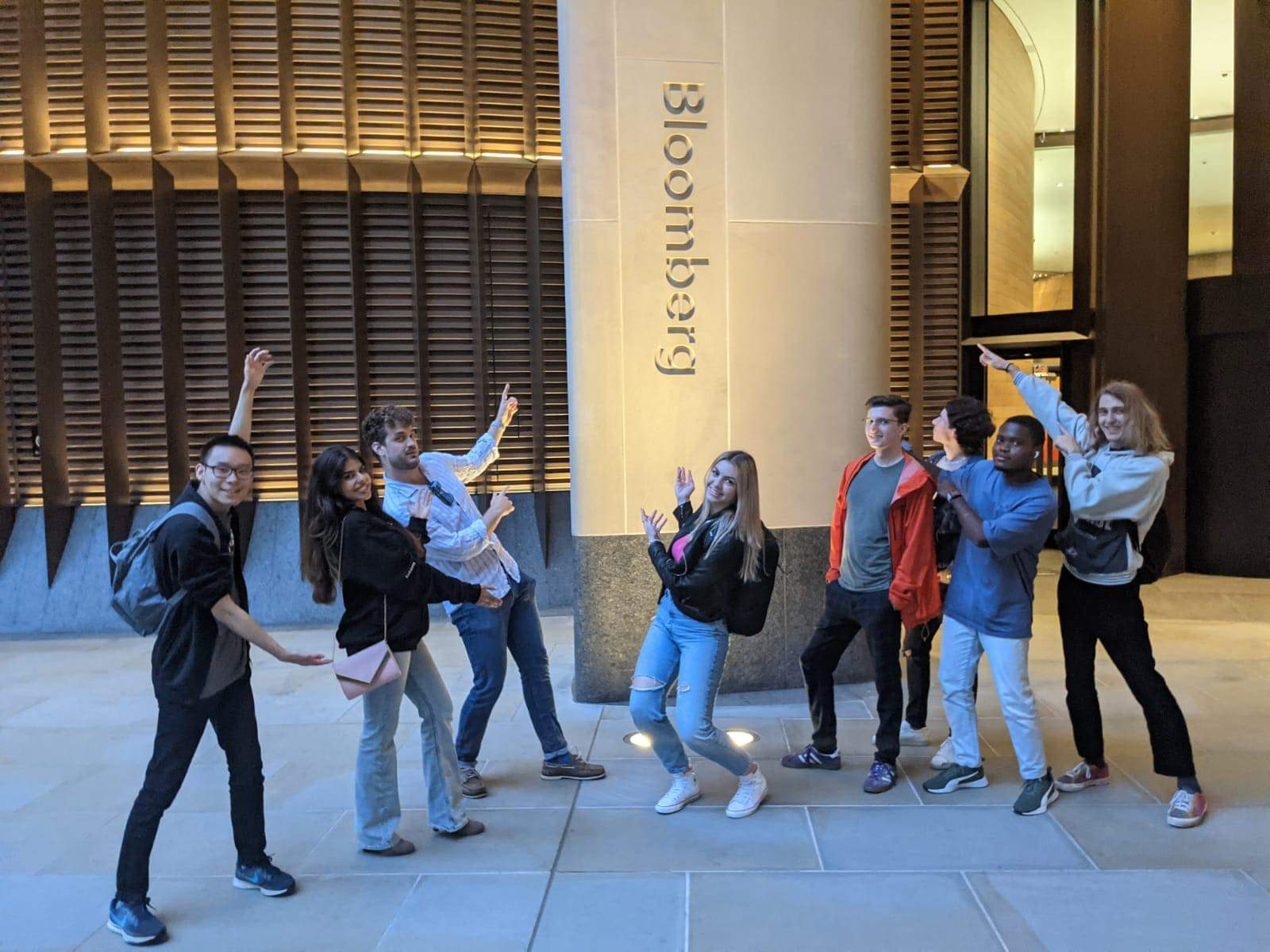 London interns outside QVS