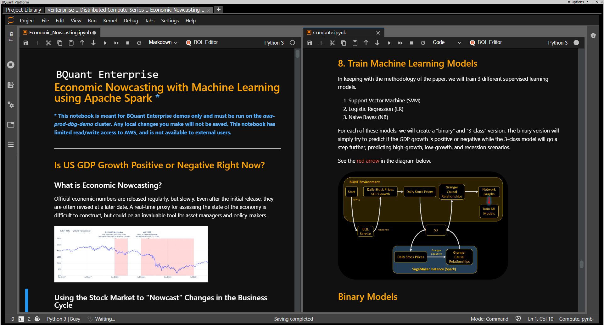 BQuant Enterprise enables you to scale and distribute compute for your machine learning workflows.