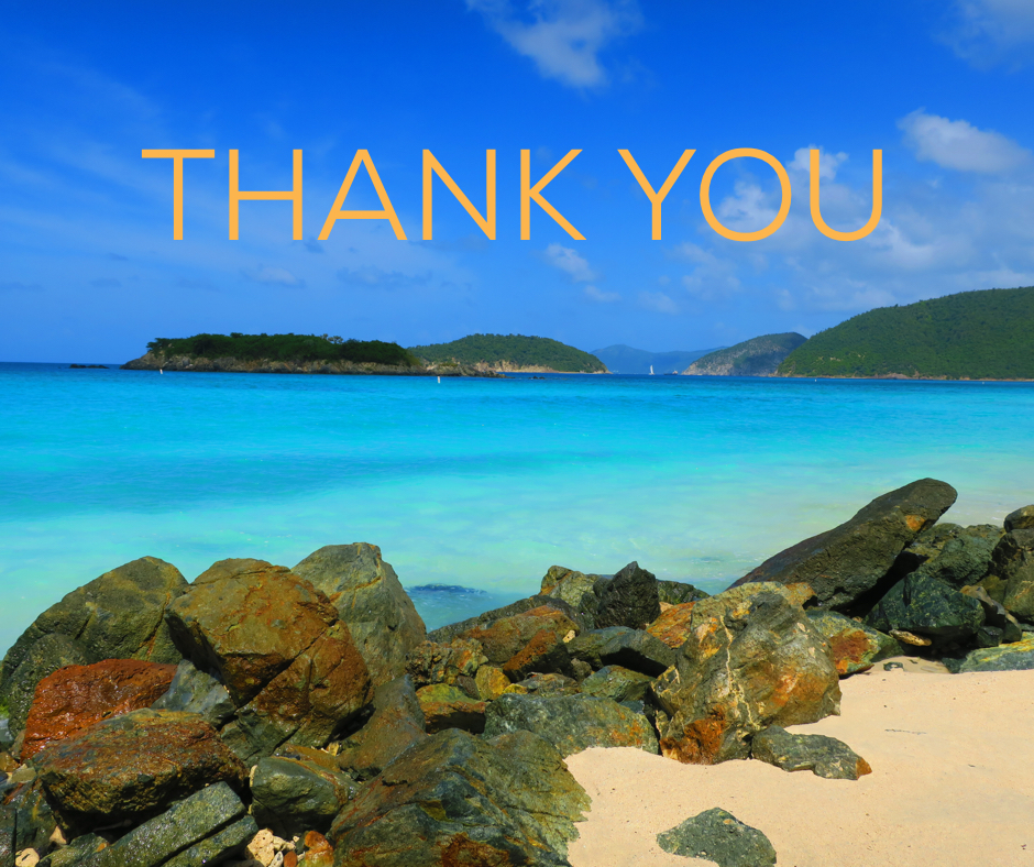 A graphic saying thank you to donors.