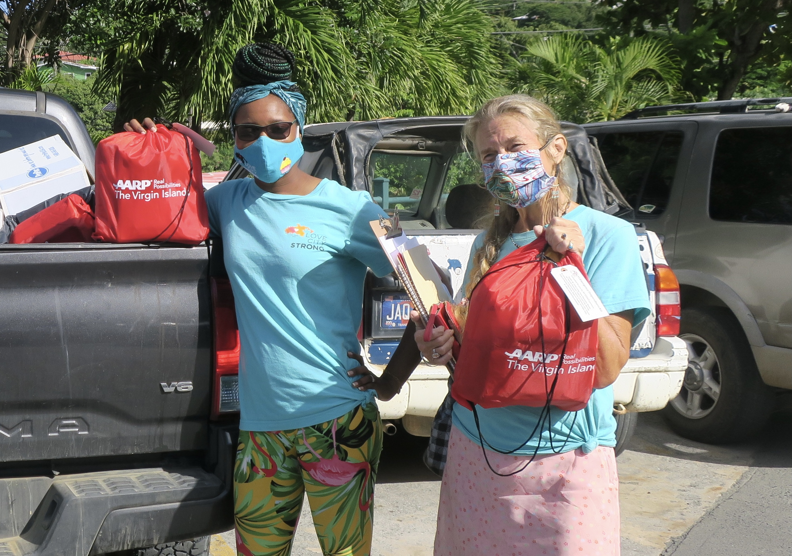 Love City Strong employees Kenisha Small and Deborah Ramsay