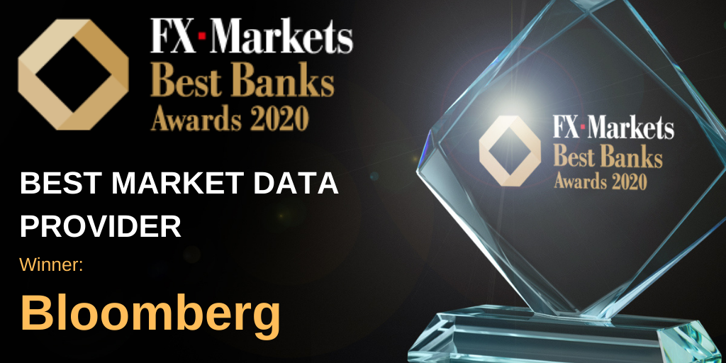 """Bloomberg Voted """"Best Market Data Provider"""" by FX Markets Readers 