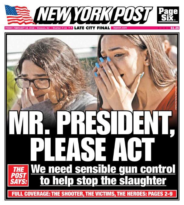NY Post cover 2/16/2018