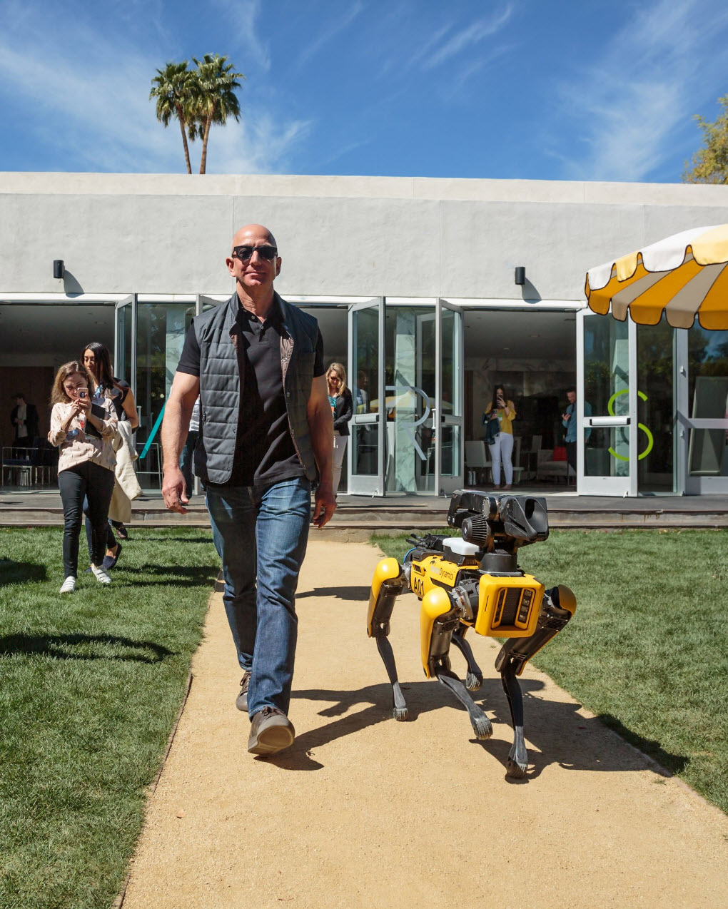 Jeff Bezos and his new dog