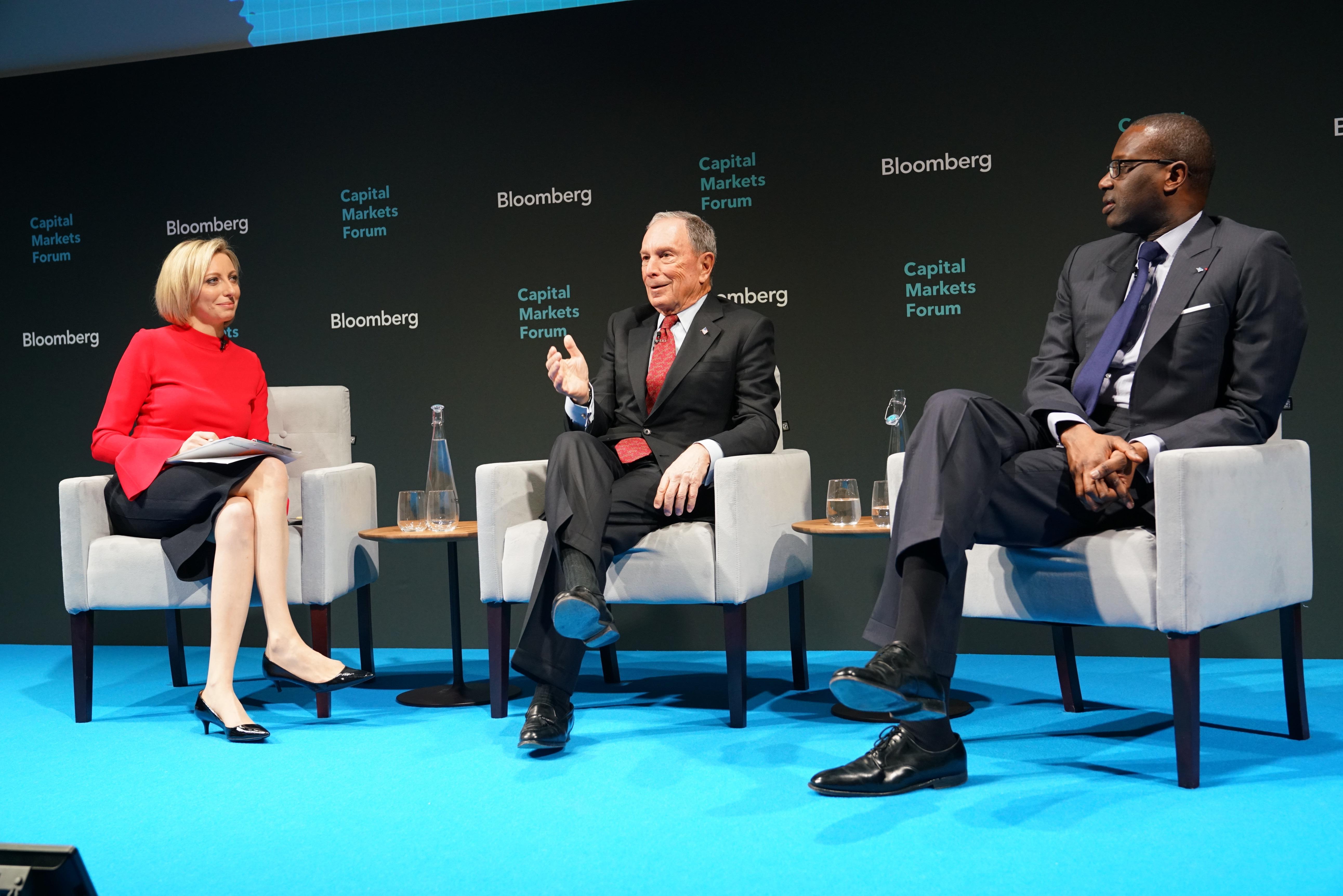 Francine Lacqua, Michael Bloomberg, Tidjiane Thiam