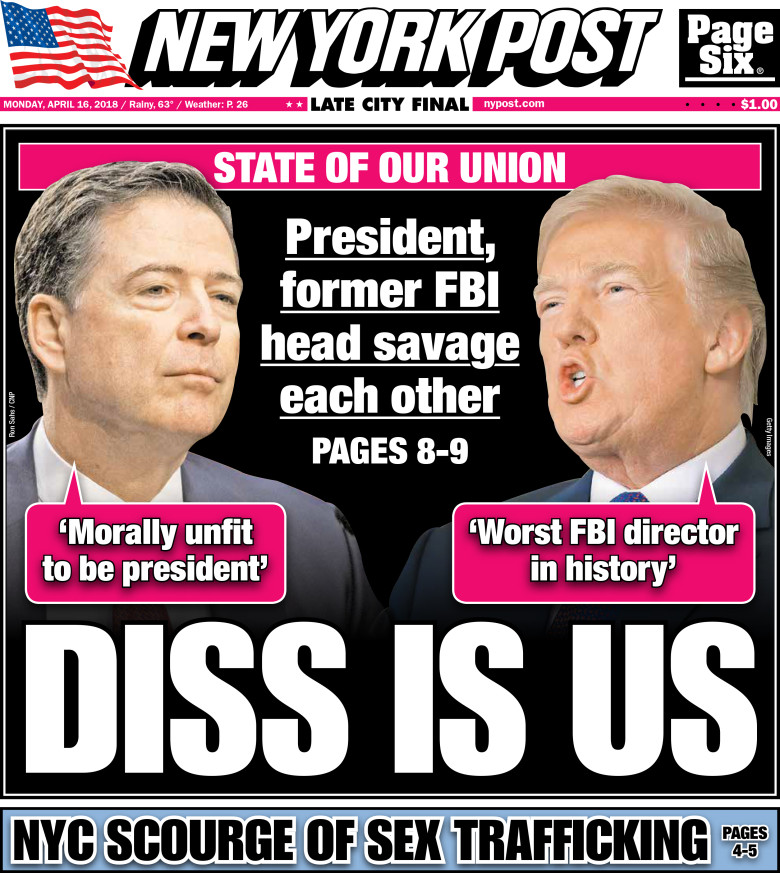 NY Post Cover Comey