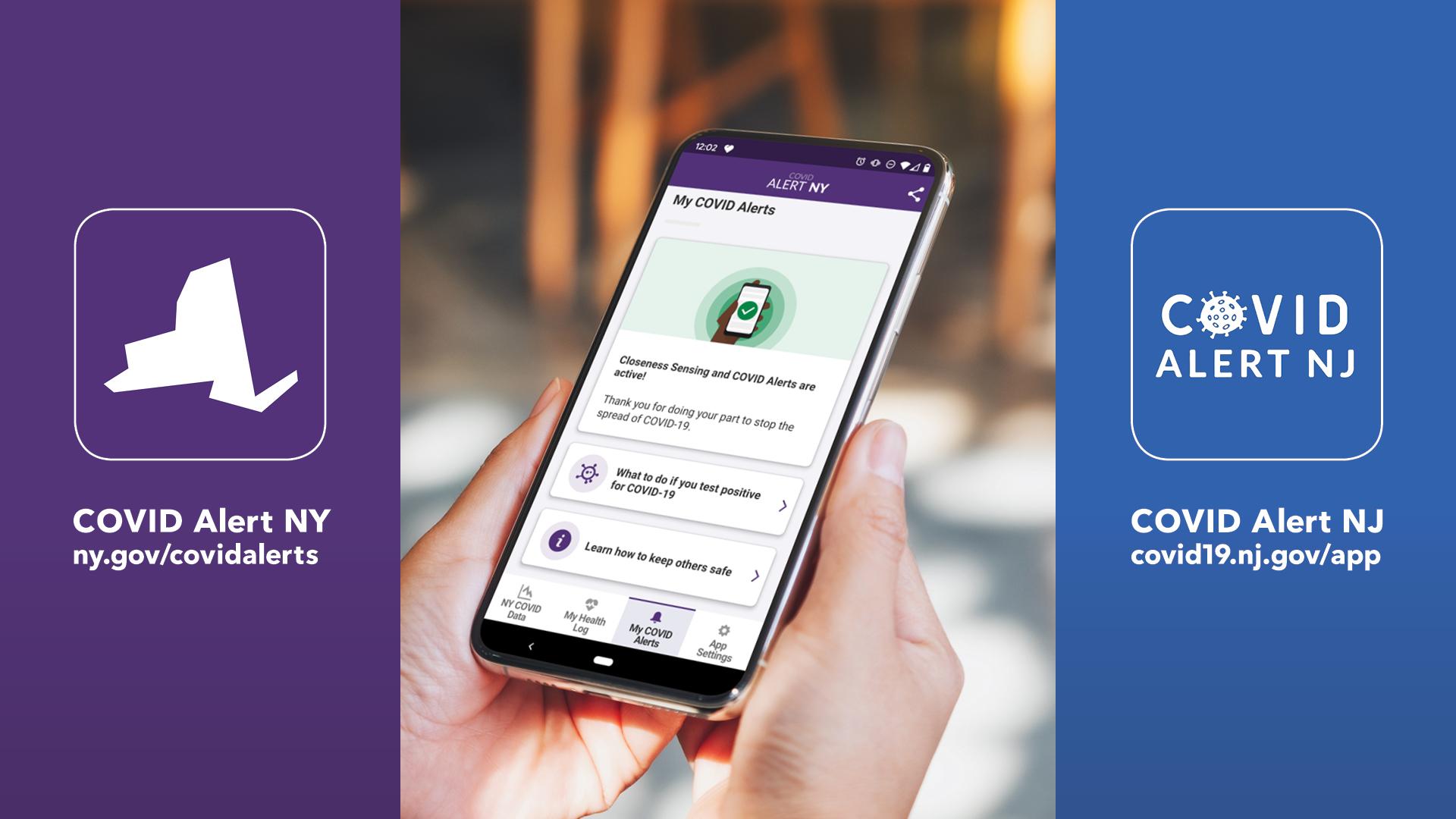 Covid alert app image