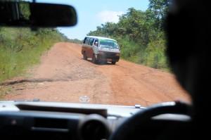 Potholes on drive to Kasulu Hospital