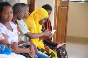 Young woman learns about FP methods at Sekou Toure Regional Hospital
