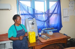 Nurse trained in anesthesia at Kasulu Hospital