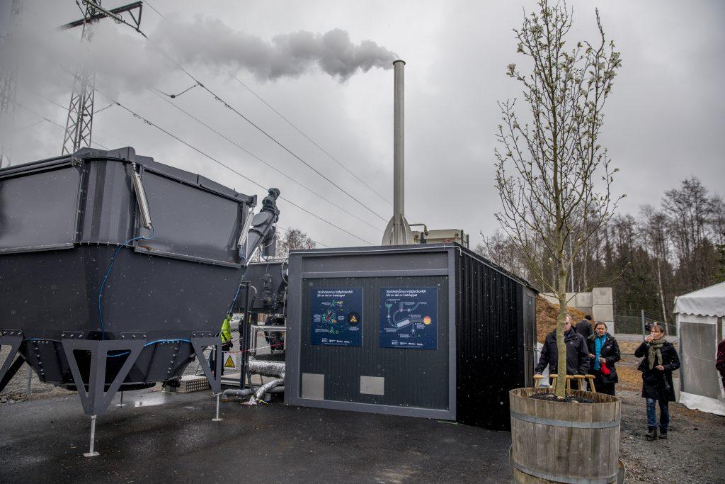 The biochar plant in Stockholm, Sweden. Photographer: Casper Hedberg