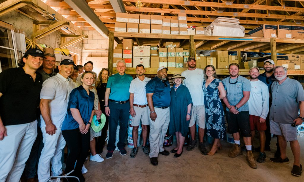Bill Clinton, Hillary Clinton and others in USVI