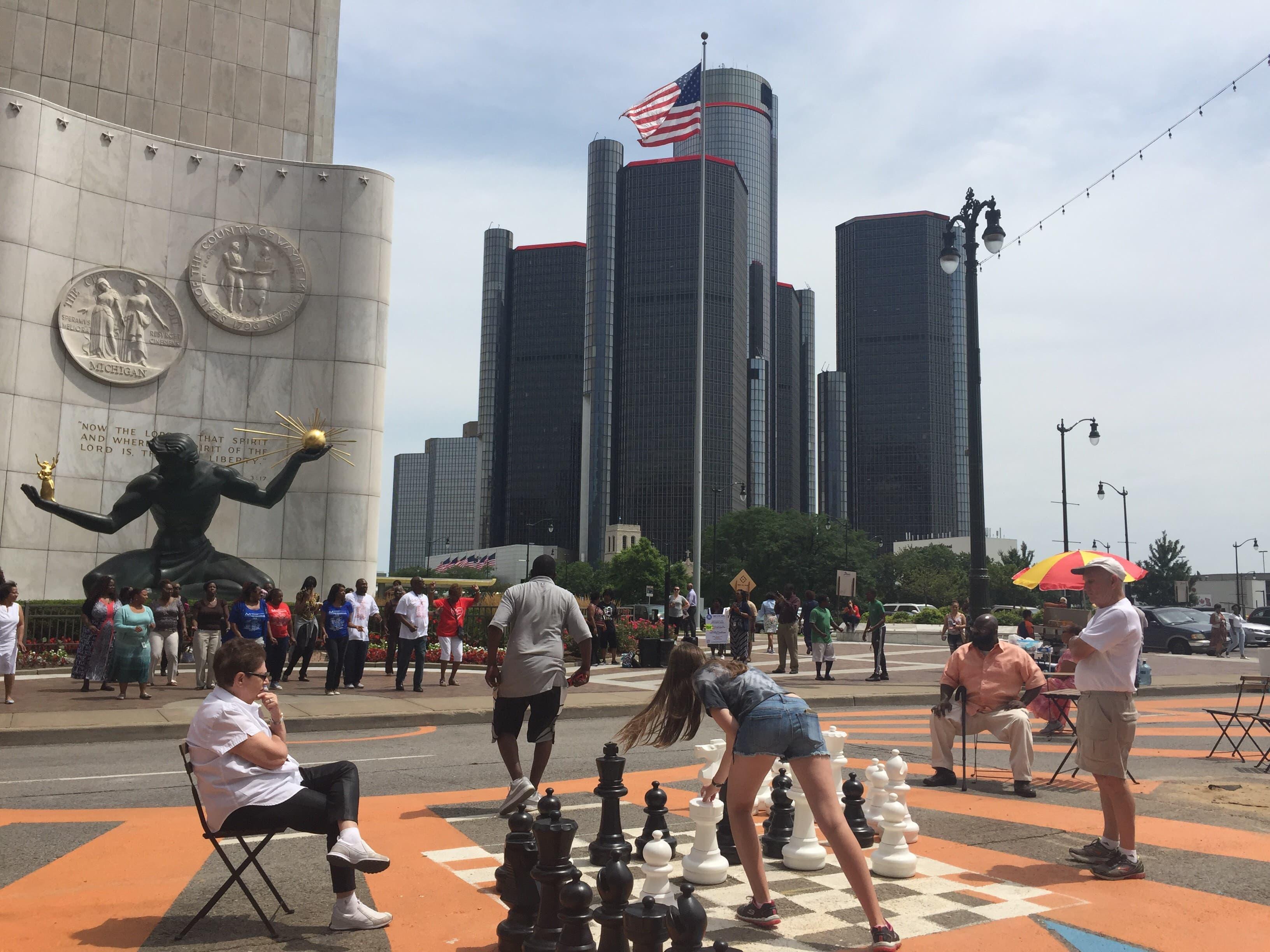 Impact of the Spirit Plaza in Detroit