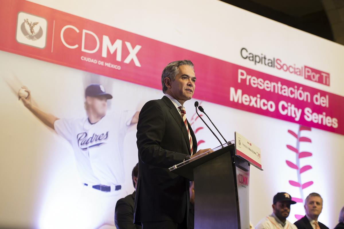 Miguel Angel Mancera speaking