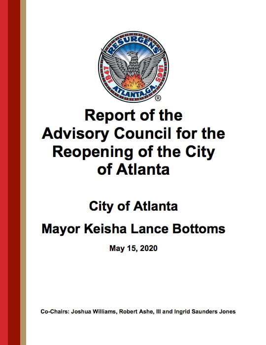 Report of the Advisory Council for the Reopening of the City of Atlanta