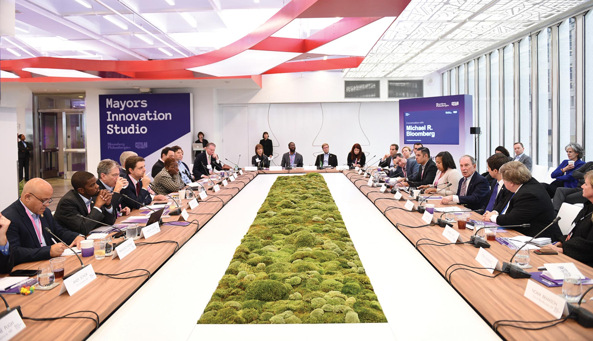 Mayors come together at the Mayors Innovation Studio at CityLab 2018 to discuss solutions to the challenges their cities face.