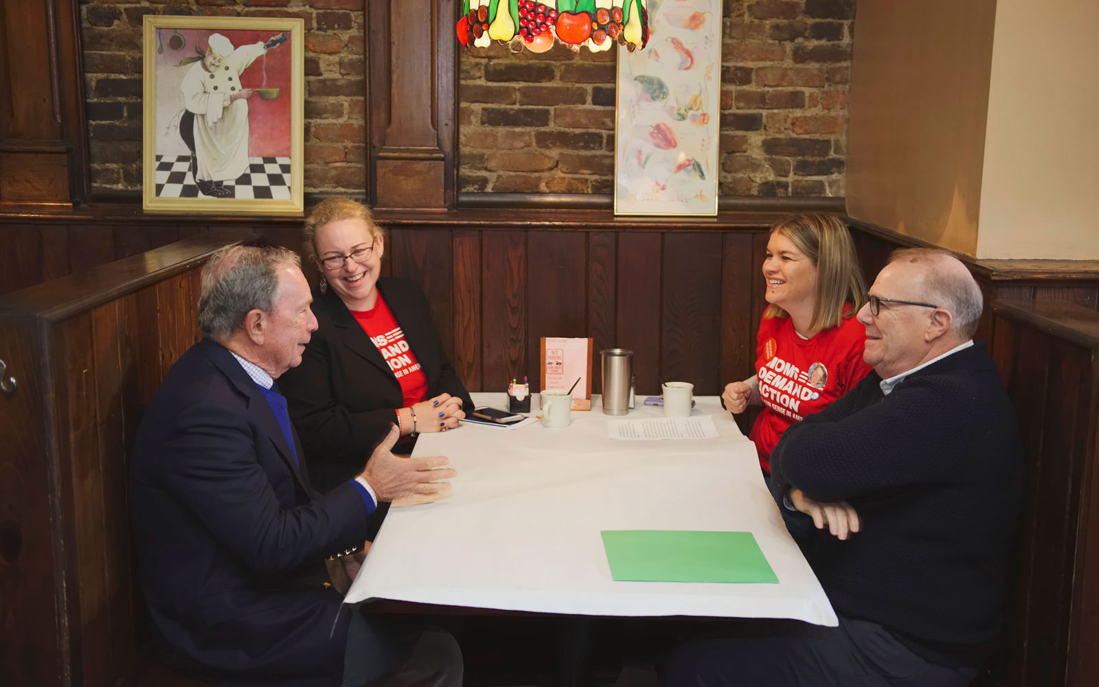 Meeting with Moms Demand Action for Gun Safety volunteers in Pittsburgh, Pennsylvania, with Everytown President John Feinblatt.