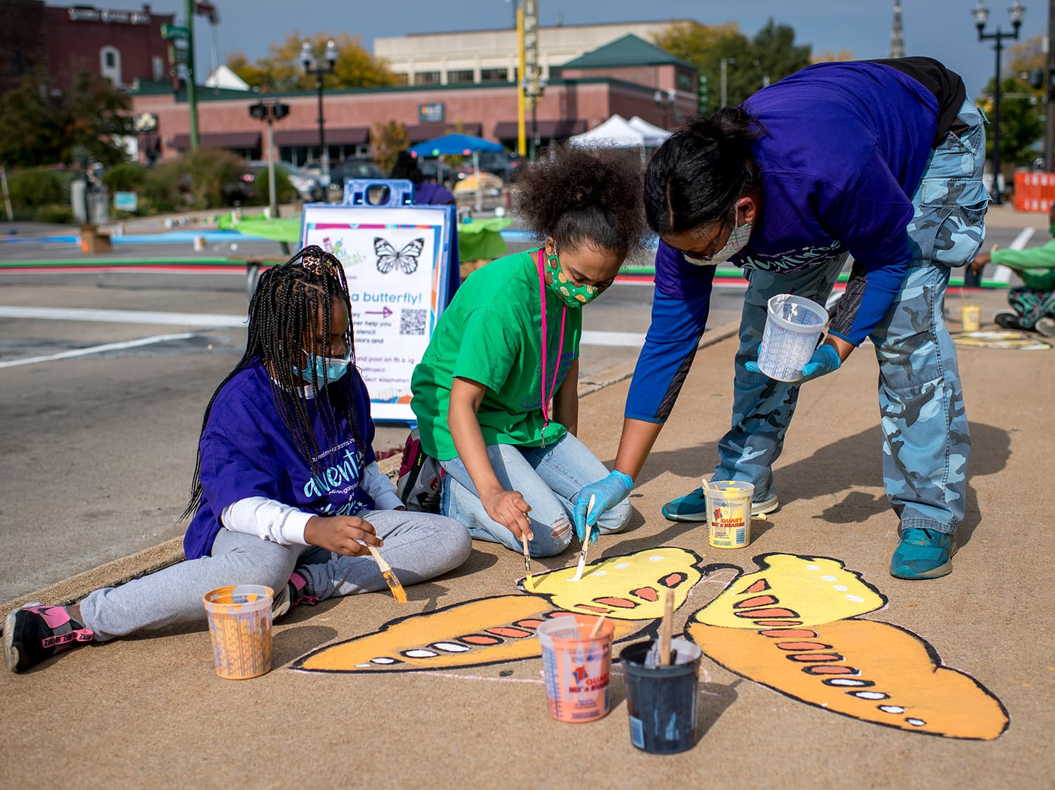 The City of Saginaw, Michigan utilized art to tie three downtown intersection together to support local and business, while also celebrating the city's diversity.