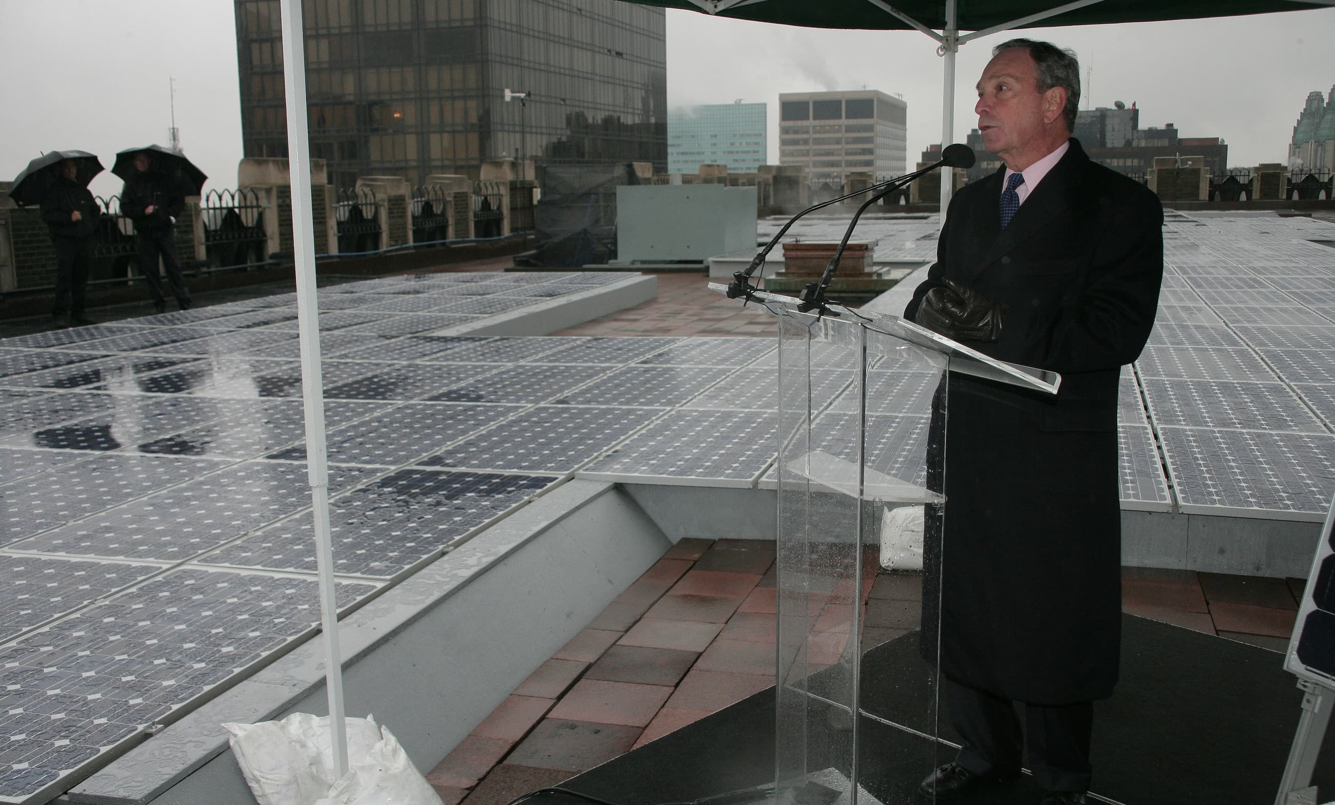 Mike Bloomberg speaking on Green NYC