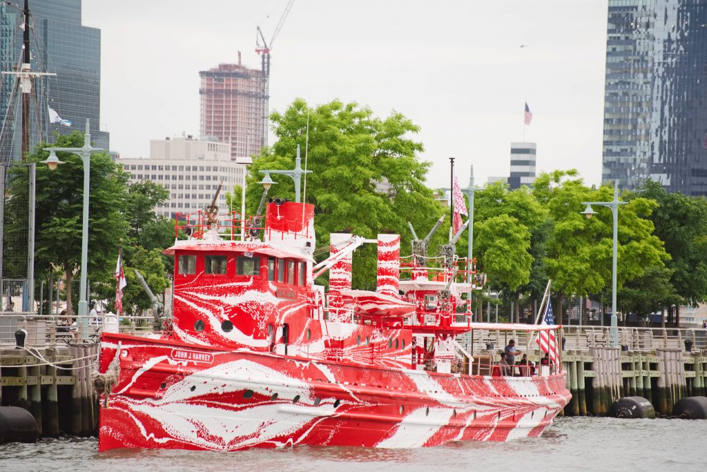 Flow Separation by Tauba Auerbach Docked in New York City.