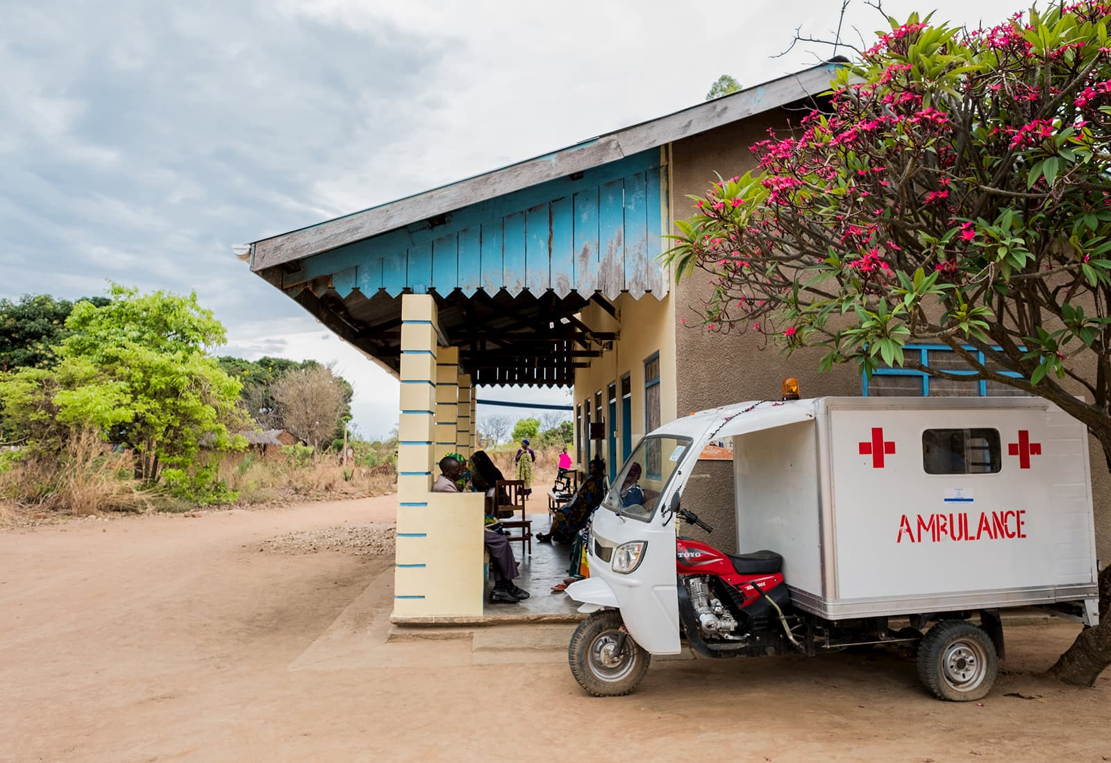 Ambulance outside of a Bloomberg Philanthropies supported Maternal Health facility in Tanzania.