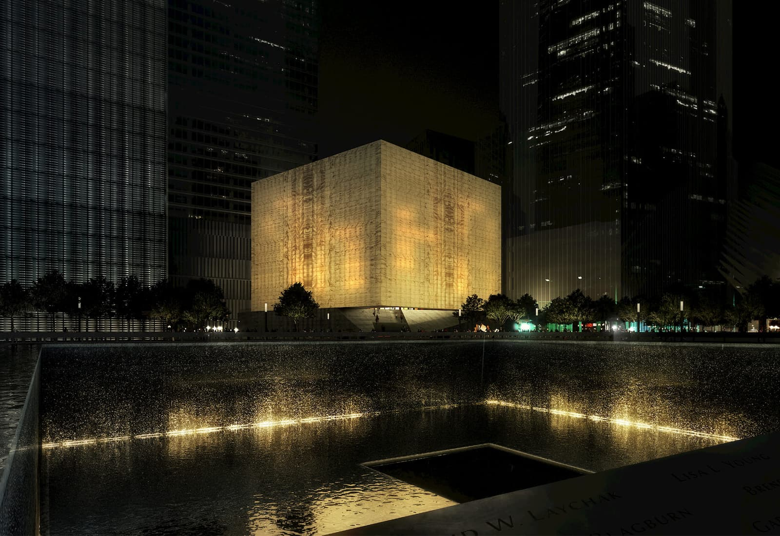 Rendering of the upcoming Perelman Performing Arts Center in downtown Manhattan, a new multidisciplinary venue offering opportunities to create and present original work in theater, dance, music, and chamber opera.