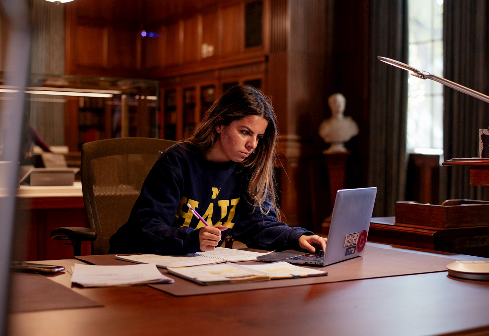 Frosilda Pushani, a student at the University of Michigan majoring in Biopsychology, Cognition, and Neuroscience who participated in the CollegePoint program.