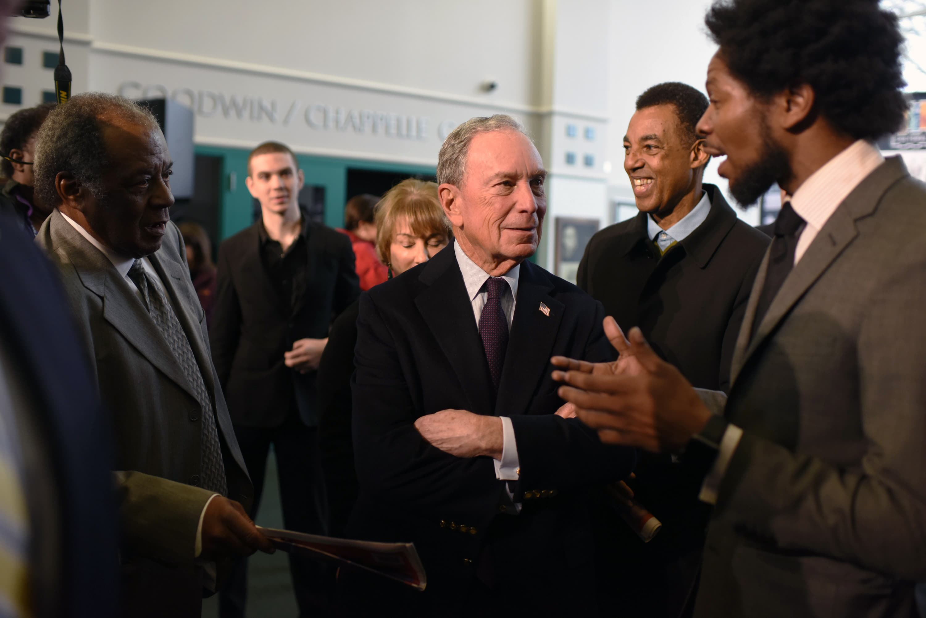 Mike Bloomberg joined artist Rick Lowe at the Greenwood Cultural Center to announce Tulsa as a winner in the 2018 Bloomberg Philanthropies Public Art Challenge, January 17th, 2019.