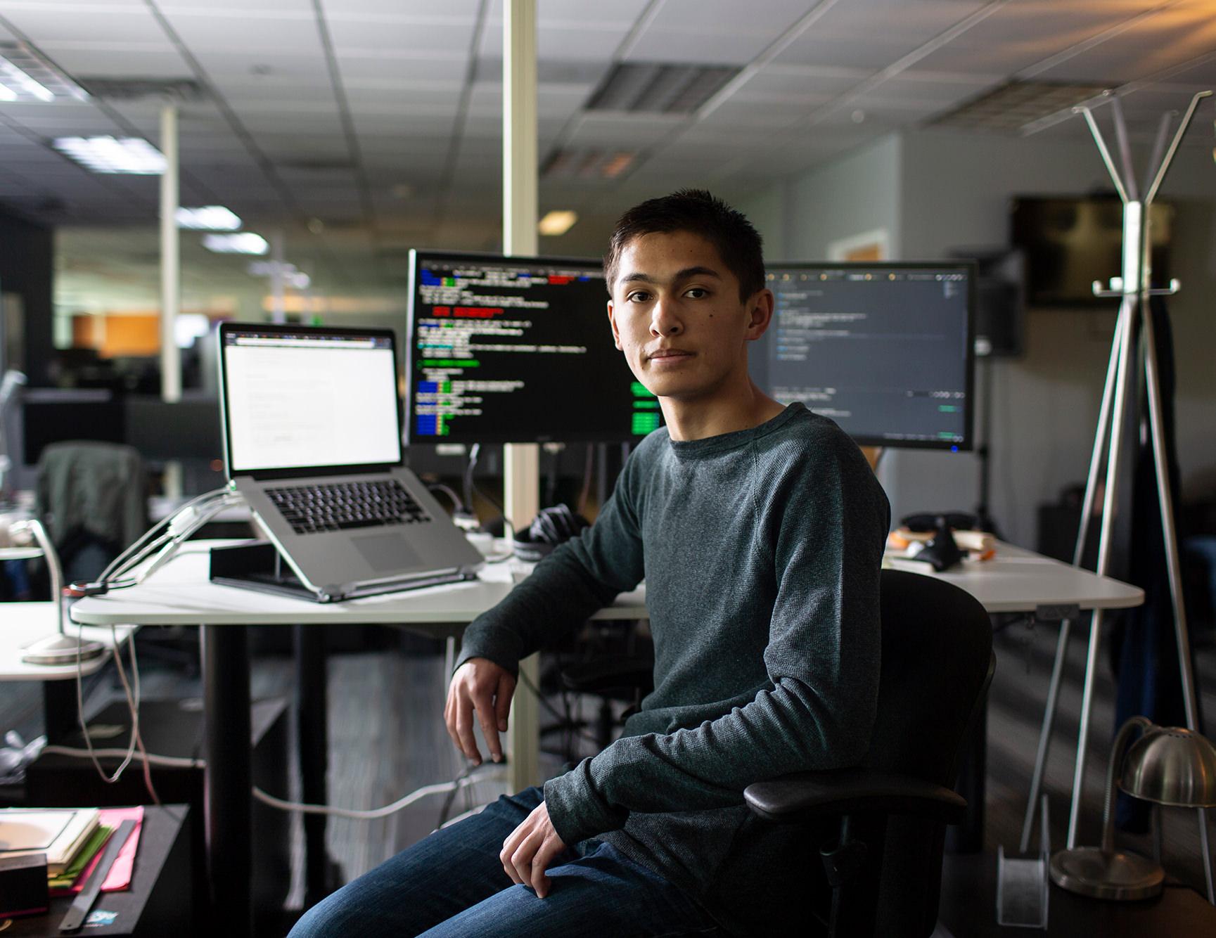Colin Dean, an IT apprentice at tech company HomeAdvisor in Colorado.
