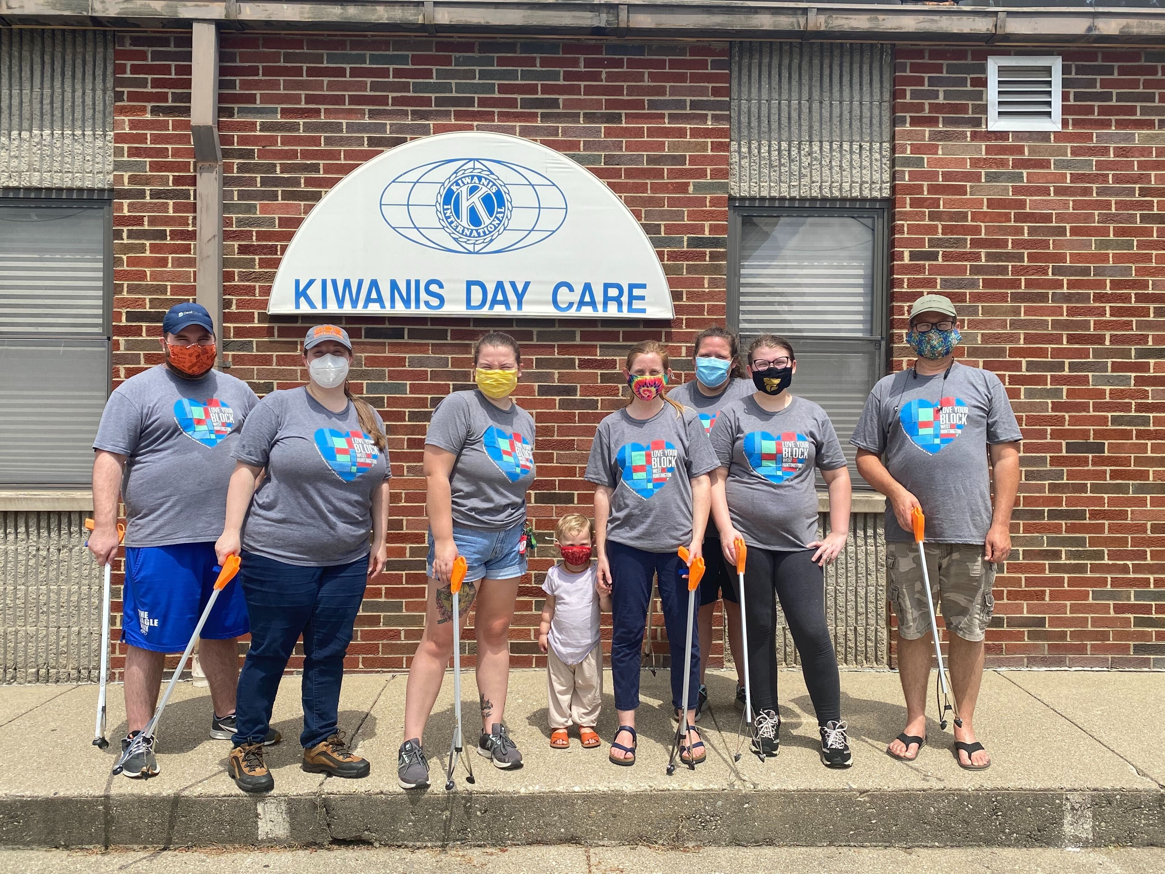 Volunteers helping to clean up their neighborhood in Huntington, West Virginia, as part of Cities of Service's Love Your Block program.