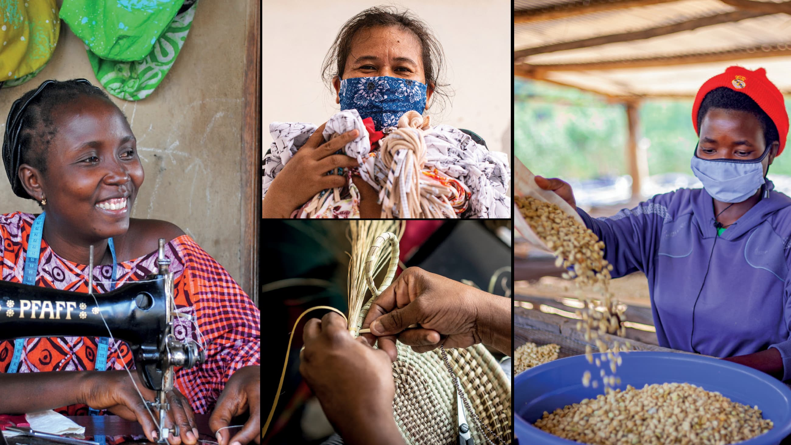 Women from around the world are working with Bloomberg Philanthropies' partners to bring their goods to the international market.