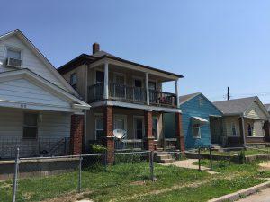 A row of homes in Kansas City, Kansas