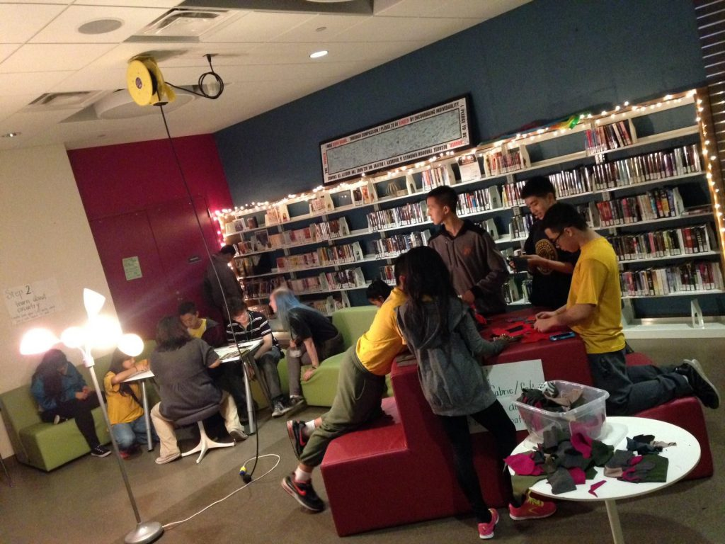 Patrons attend Createch, a teen program at the Saint Paul Public Library