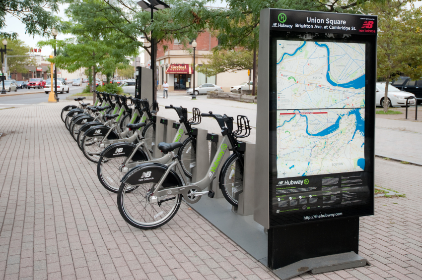 Boston Hubway bike share station