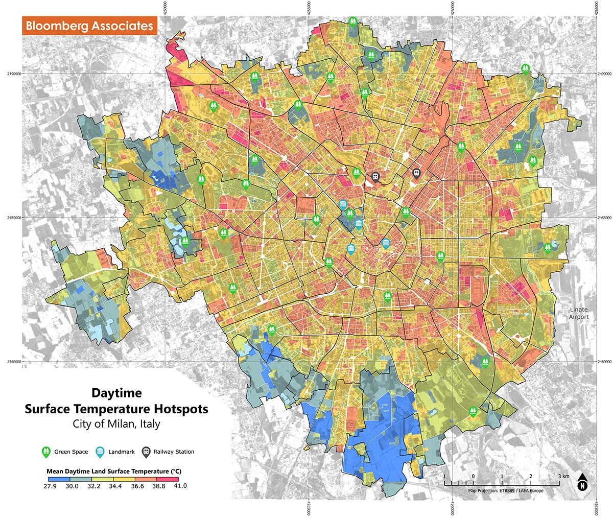 Milan Heat Map