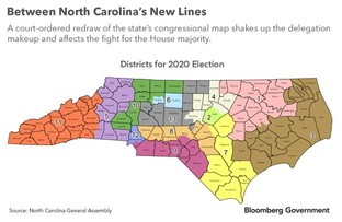 North Carolina redrawn state congressional map