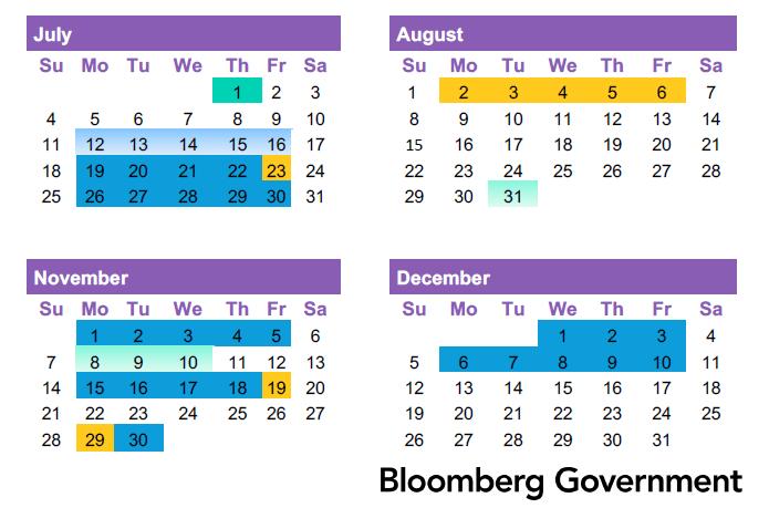 Congressional calendar preview