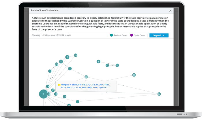 Points of Law Citation Map on Bloomberg Law