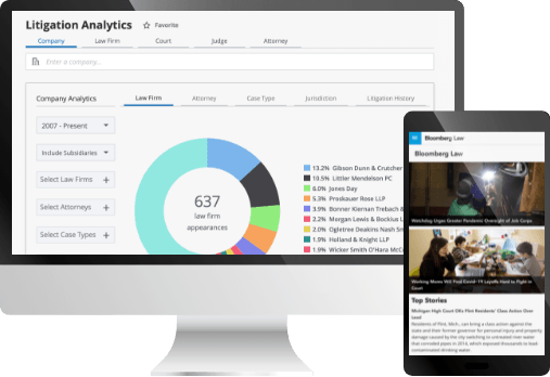Bloomberg Law Litigation Analytics product